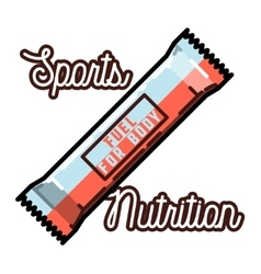 Color vintage sports nutrition emblem vector image