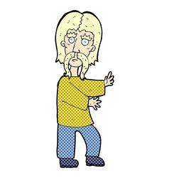 comic cartoon mustache man vector image