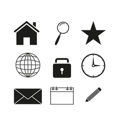 contact set icons vector image