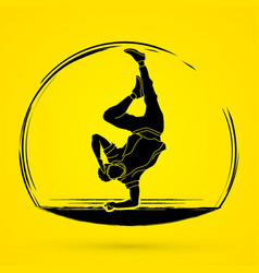dancing action dancer training graphic vector image