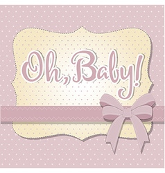 Delicate baby shower card vector
