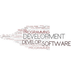 Develop word cloud concept vector