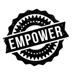 Empower stamp rubber vector