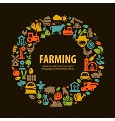 farm set icons signs and symbols vector image