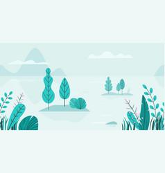 flat background spring landscape vector image