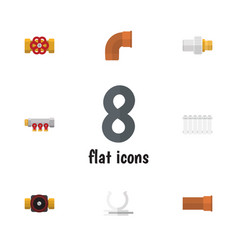 Flat icon industry set of conduit tap industry vector