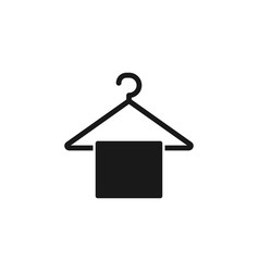 flat towel rack icon from miscellaneous outline vector image