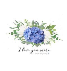 Floral card design with tender hydrangea bouquet vector