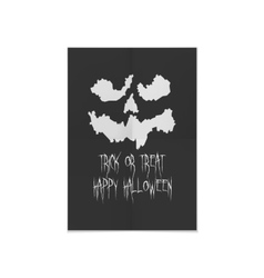 Halloween Poster Design with spooky Face vector
