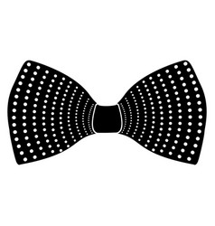 Hipster bowtie silhouette vector