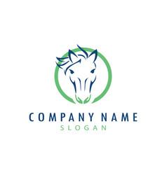 Horse care logo vector
