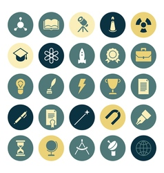Icons plain round education vector