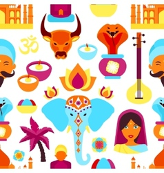 India seamless pattern vector image