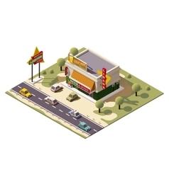 isometric liquor store vector image