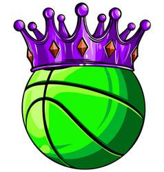 King basket ball in a cartoon chair vector