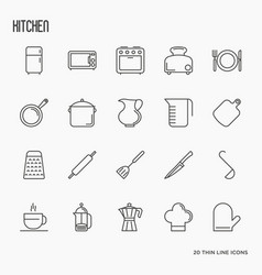 Kitchen equipment and tableware vector