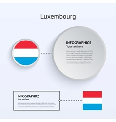 Luxembourg country set banners vector