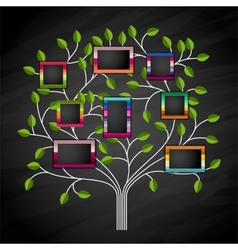 Memory tree vector image