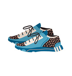 Modern trainers or sneakers for running vector