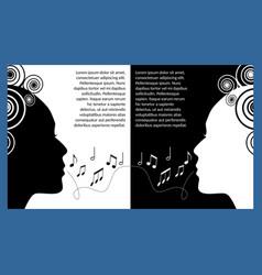 music festival flyer leaflet monochrome vector image