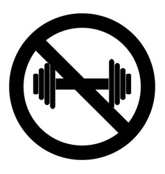 no exercise workout symbol vector image