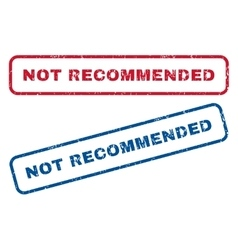 Not Recommended Rubber Stamps vector