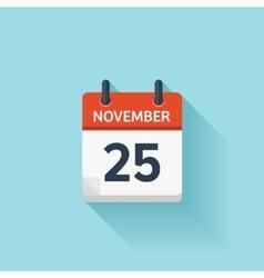 November 25 flat daily calendar icon vector image