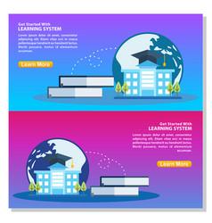 online education flat design concept online vector image