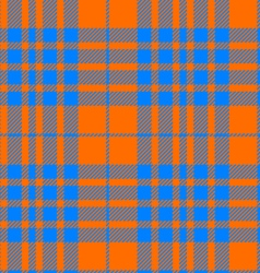 orange and blue tartan seamless vector image vector image