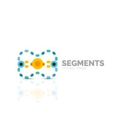 Outline minimal abstract geometric logo vector