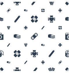 Plaster icons pattern seamless white background vector