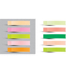 post note sticker paper sticky tape with shadow vector image