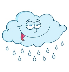 Rain cloud cartoon vector image
