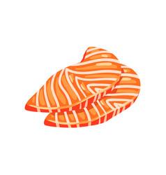 Salmon sashimi seafood product vector