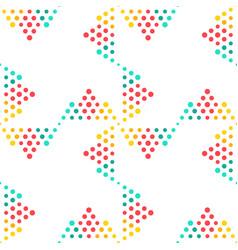 seamless geometrical circle pattern background vector image