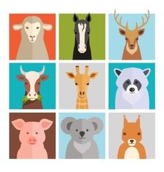 set animal icons vector image