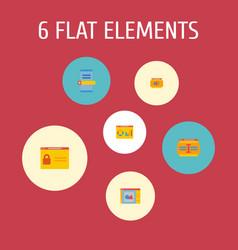 Set of website development icons flat style vector