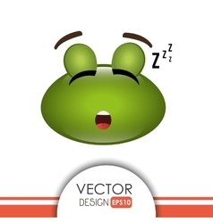 sleeping frog design vector image