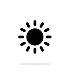 sun weather icon on white background vector image