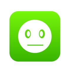 Suspicious emoticon digital green vector