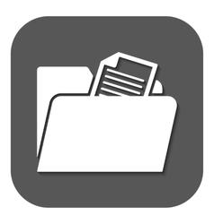 The folder icon File symbol Flat vector image