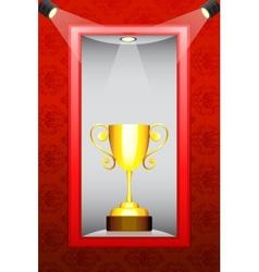 Trophy in Display vector