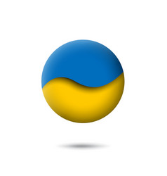 Ukraine flag icon in shape circle abstract vector