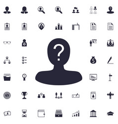 User question icon vector