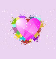 Valentines day a festive background with hearts vector