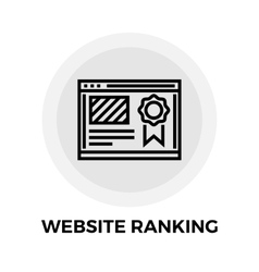 Website Ranking Line Icon vector