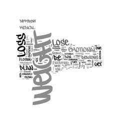 why can t i lose weight text word cloud concept vector image