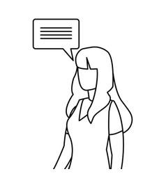 Woman dialogue speech bubble vector