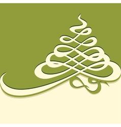 Calligraphy christmas tree vector