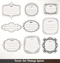 Frame labels Set ornamental vintage vector image vector image